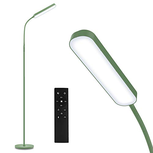 Led Floor Lamp with 4 Color Temperature and Stepless Dimmer, Remote and Touch Control Floor Lamp, Adjustable Gooseneck Standing Lamp for Living Room