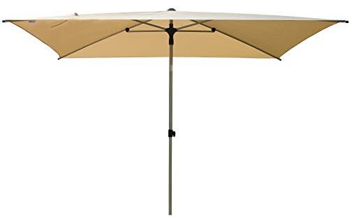 SORARA Porto Parasol de Jardin Exterieur | Beige | 300 x 200 cm (3 x 2 m) | Rectangulaire | Mécanisme Push-up (Pied excl.)