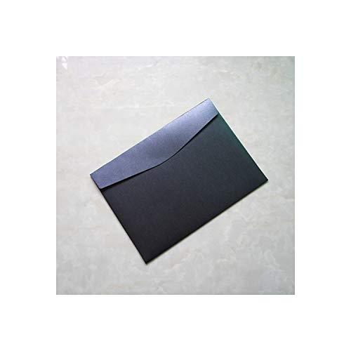Juego de 20 sobres de papel perlado con 9 números para sobres de tamaño A4 en blanco, para invitaciones de boda o de oficina, color 20 piezas negro