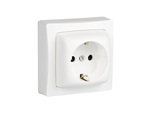 legrand 097380 Base de Enchufe Montaje En Superficie, 3680 W, 230 V, Blanco