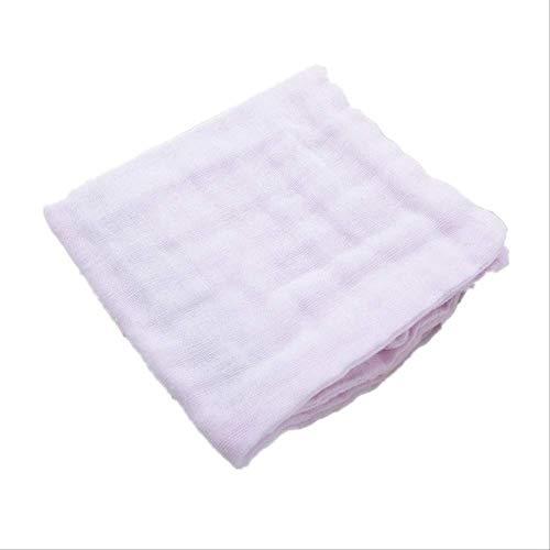 4 unids/Lote Pañuelo de bebé Cuadrado Toalla de Cara de bebé 28x28cm Toalla de Cara de algodón Infantil de Muselina Toallita de un tamaño Rosa