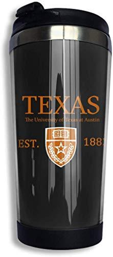 Qurbet Tazza da Viaggio da caffè, University of Texas at Austin Established 1883 Coffee Cups Stainless Steel Bottiglia d'Acqua Cup Travel Mug Coffee Tumbler with Spill Proof Lid