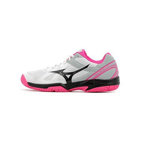 Mizuno Cyclone Speed, Zapatillas para Mujer, Multicolor (White/Black/Pink GLO 001), 42 EU