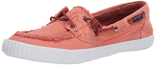 Sperry Women's Sayel Away Boat Shoe, Washed Red, 11 M US
