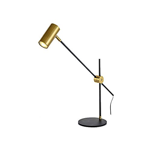 ForeverBox, FB7-62345, industriële verstelbare lange arm metalen tafellampen LED Office Home bureaulamp met gloeilamp (zwart)