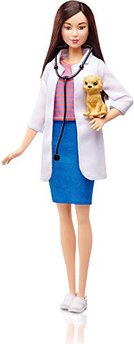 Barbie Quiero Ser veterinaria, muñeca con accesorios (Mattel DVF58)