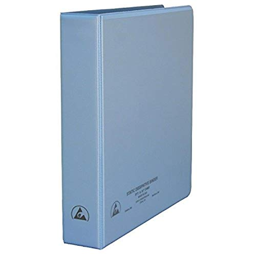 DESCO - ASK-29683 7432 Vinyl 3-Ring Static Dissipative Binder with Clear Pocket, 1.5