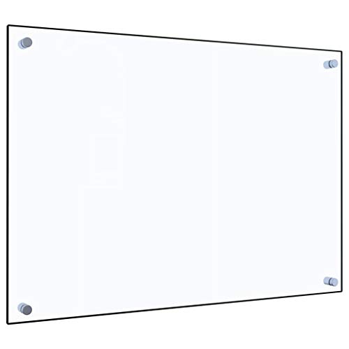 vidaXL Küchenrückwand Spritzschutz Fliesenspiegel Glasplatte Rückwand Herdspritzschutz Wandschutz Herd Küche Transparent 70x50cm Hartglas