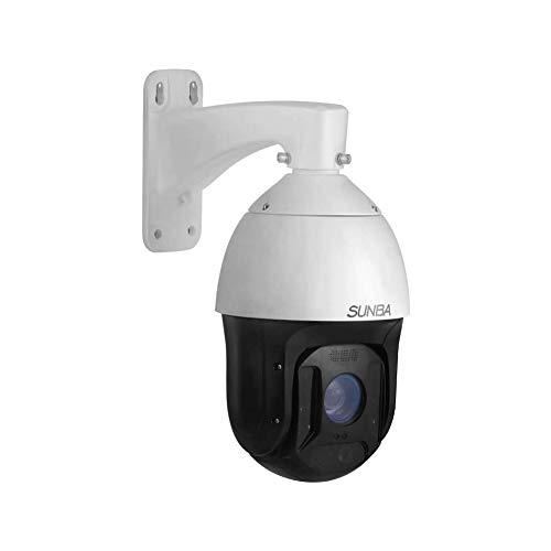 SUNBA 1080p Auto Tracking Starlight 25 facher optischer Zoom IP PoE+ PTZ Kamera, RTMP für Rundfunk und Außenbereich mit Zwei-Wege Audio & Ferninfrarot Nachtsicht bis zu 300m (Illuminati-2W)