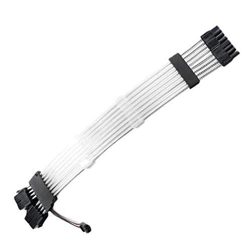 POHOVE Cable de extensión de PSU, cable de extensión RGB, 24 pines/6+2pin PCI-E PSU Kit de cable de extensión de PSU, cable con manga para gestión de cables con peine de cable