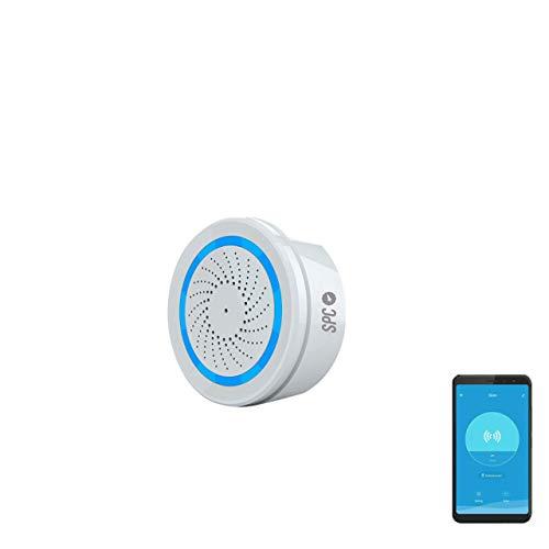SPC Sonus - Sirena Alarma Inteligente Wi-Fi Compatible con Amazon Alexa e IFTTT, Blanco