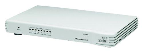 3com OfficeConnect Switch 8–Conmutador–8Puertos–Ethernet, Fast Ethernet–10Base-T, 100Base-TX–Externo–apilable