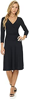 Rekucci Women's Slimming 3/4 Sleeve Fit-and-Flare...