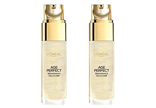 "2x L\'Oréal Paris Age Perfect/ ,,Gold\"" Serum/ für reife Haut/ Zell-Renaissance/ Gesichtspflege/ je 30ml/ verschönerte, strahlende Haut"