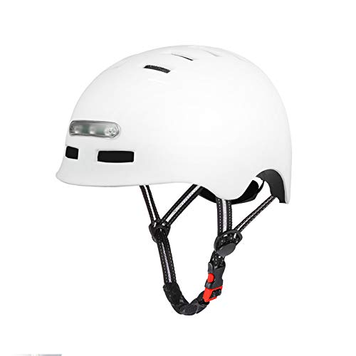 SelfLove Casco de Bicicleta con Faro LED Integrado y Casco de Ciclismo Ligero de luz Trasera para Hombres y Mujeres Adultos