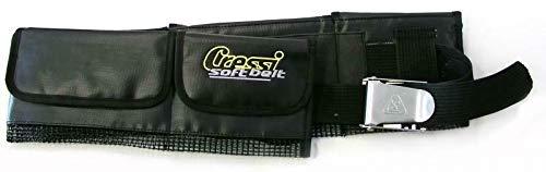 ScoobaGoodies Cressi Taschenbleigurt XL, Edelstahlschnalle, 5 Taschen