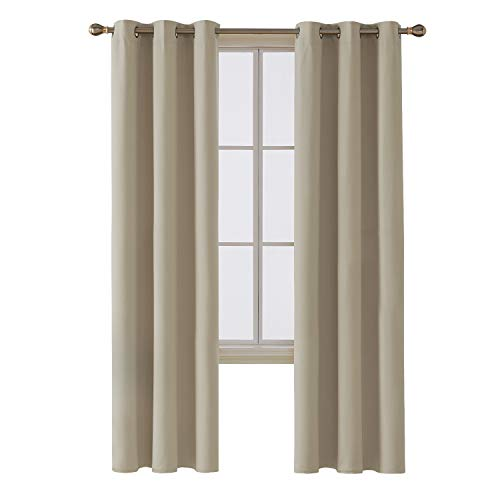 Deconovo Room Darkening Thermal Insulated Blackout Grommet Window...