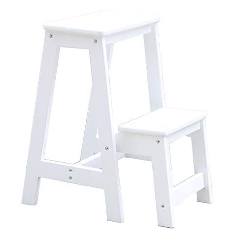 2-Stufen Hocker aus Holz Stair Chair Haushalts Faltbare Leitern Tragbare Trittleiter...