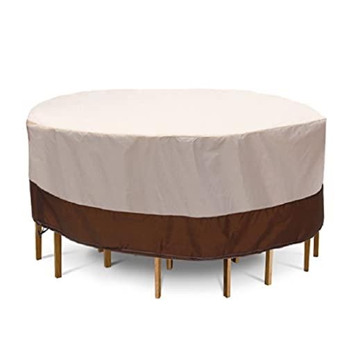 Itlovely Patio al aire libre mesa redonda cubierta de polvo impermeable muebles de jardín mantel bolsa