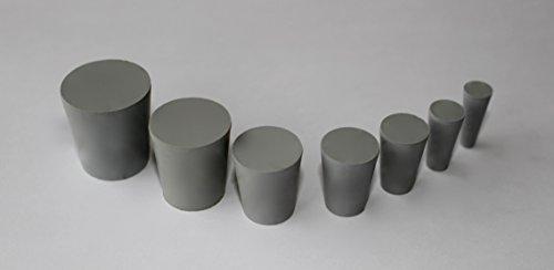 Dugo Gummistopfen, Pfropfen aus Naturkautschuk - 2 Stück - Größe wählbar (Oben ø27mm x unten ø22mm x Länge 25mm)