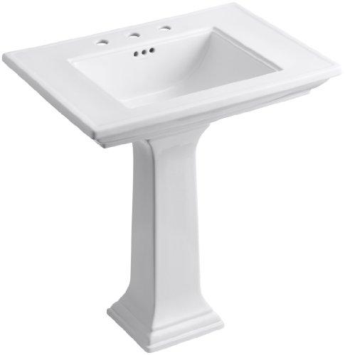 KOHLER K-2268-8-0 Memoirs Pedestal Bathroom Sink with 8