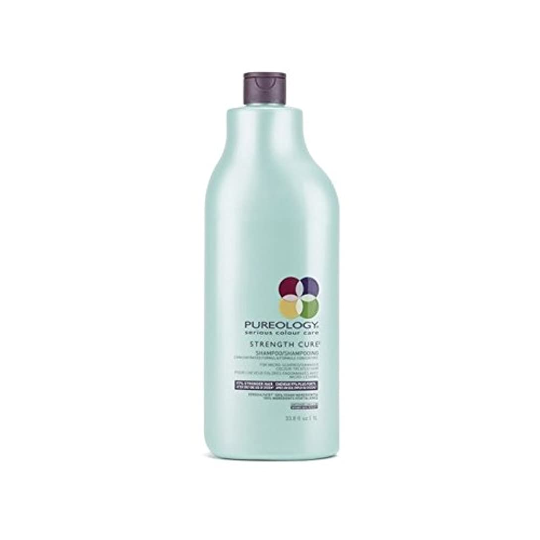 透過性考慮スーパーPureology Strength Cure Shampoo (1000ml) (Pack of 6) - 強度硬化シャンプー(千ミリリットル) x6 [並行輸入品]