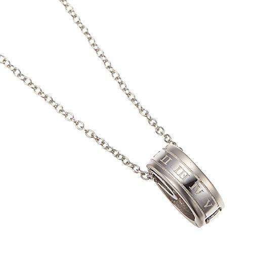 [アクセサリーショップピエナ]指輪ホルダーネックレス サージカルステンレス製 ローマ数字 金属アレルギー 安心 対応 ペンダント レディース メンズ 40cm