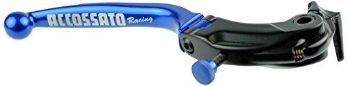 ACCOSSATO(アコサット) ニッシン製ラジアルマスター用 可倒式ブレーキレバー LV019タイプ ブルー