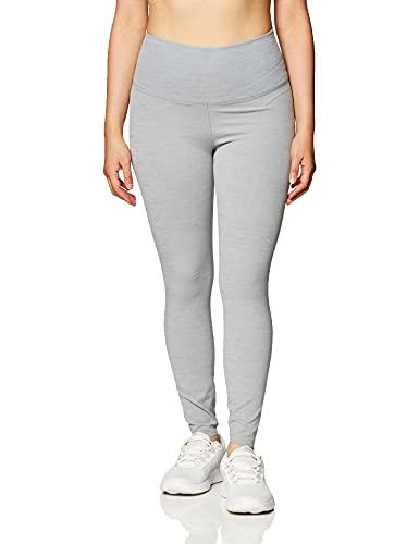 NIKE CJ3801-073 Mallas Deportivas 7/8 Yoga Luxe Finalon para Mujer, Particle Grey/Heather/Platinum Tint, L