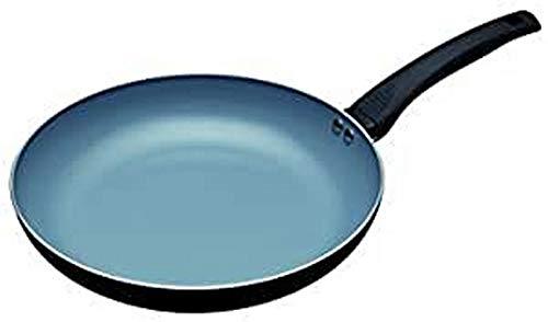 MasterClass Sartén Ecológica de Cerámica Antiadherente Sin Productos Químicos Preparada para Placas de Inducción, Aluminio/Hierro, Negro/Azul, 28 cm