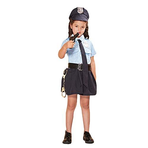 gousheng Kinder Rollenspiel KostüM Requisiten Polizeiuniformen Kinder Performance KostüMe M