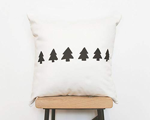 Toll2452 Modern cushion Hygge decorative throw pillow cover with black tree design minimalist christmas pillow