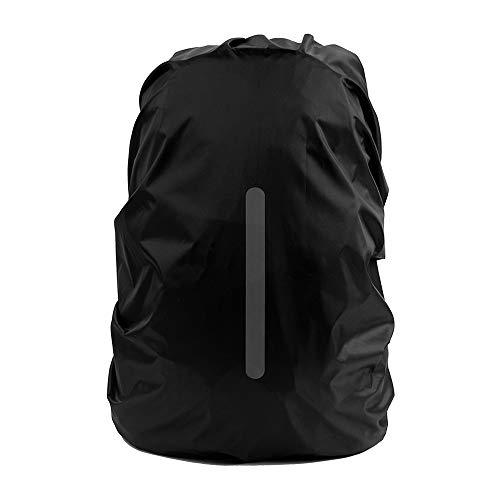 QTER - Funda impermeable para mochila reflectante (10 a 70 l, resistente al polvo, antirrobo, para senderismo, camping, ciclismo, viajes, actividades al aire libre, talla XL, 56 a 70 L)