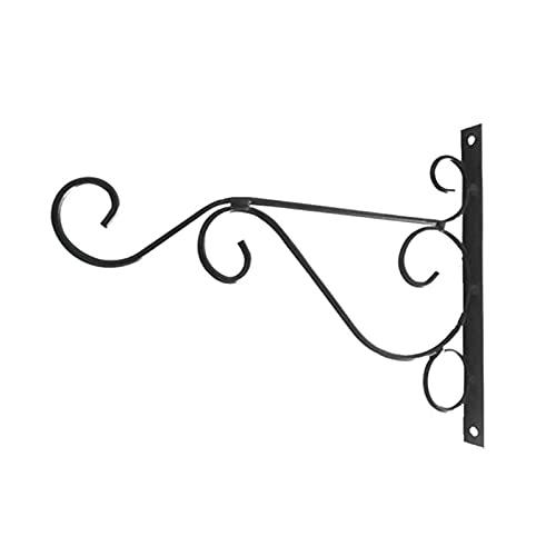 Gancho de Pared, Soportes de Cesta Colgante, Soporte de Flores Decoración de la Pared Cesta Colgante Soporte Soporte de Maceta Simple Soporte de Gota (Color : Black)