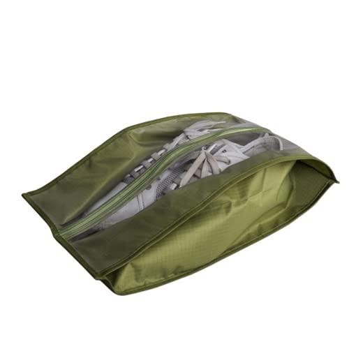 HNZNCY Bolsa de zapatos impermeable Viaje Portátil Bolsa de almacenamiento de zapatos Sneaker Pocket Home Dustproof Organizador Zapatero (verde)