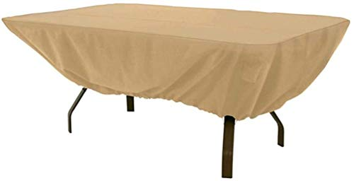 Outdoor Furniture Tarp, Tafel Dekken Oxford Doek PVC Regendicht Dustproof Sunscreen 183x112x58CM