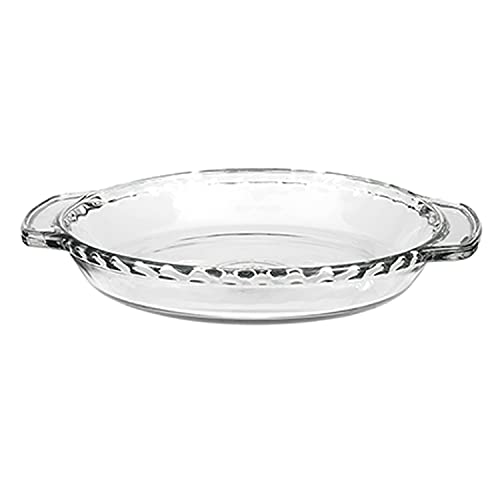 Anchor Hocking 81214L11 Oven Basics 9.5-Inch Deep Pie Plate, Clear