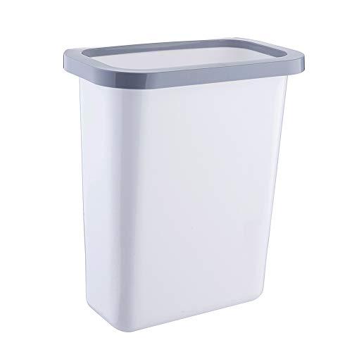 Chytaii Cubo de Basura Montado en la Pared Papelera de Oficina Cocina Habitación Baño Sin Cubierta Cubo de Almacenamiento Plástico Portátil Contenedores de Cocina Multiuso 25.5 * 16.8 * 30CM