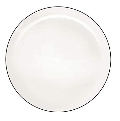 ASA Ligne Noire Assiette Plate Porcelaine Blanc 30 cm