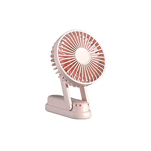 WYH Mini Ventilador de Mano portátil Velocidad Plegable, Potencia portátil Mini Ventilador con característica aromática Interior al Aire Libre (Color : Pink)