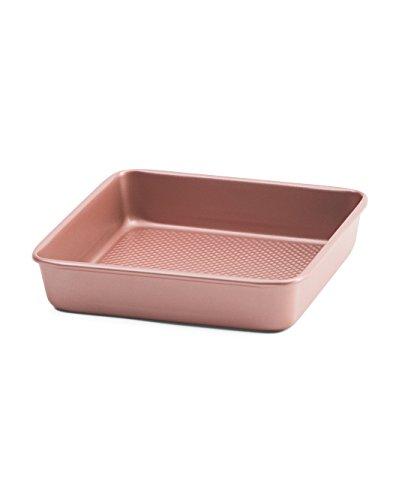 """David Burke 9""""x2"""" Rose Gold Square Cake Pan"""