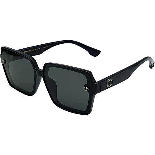 Gosunfly Gafas de sol con montura redonda de cara redonda con montura de nueva sombra