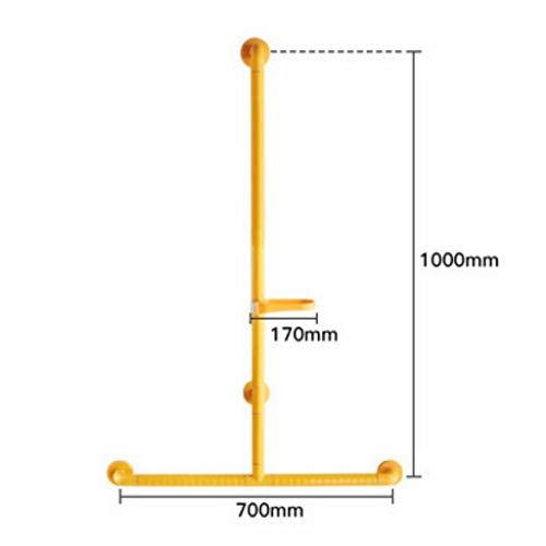 FMX Haltegriff Geländer Sicherheit rutschfeste Armlehne Duschbad Dusche Halterung Stange Bad Ältere T-Slip Anti-barrierefrei Dusche Rack (gelb) (Color : B)