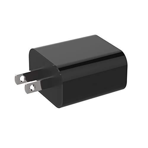 Enchufe De Cargador RáPido Mini iPhone De 20w, Soporte De Carga del Adaptador De iPhone, Adaptador De Corriente USB-C Qc3.0 para Todos Los iPhone 12, Android, Tabletas (Estándar Americano,Negro)