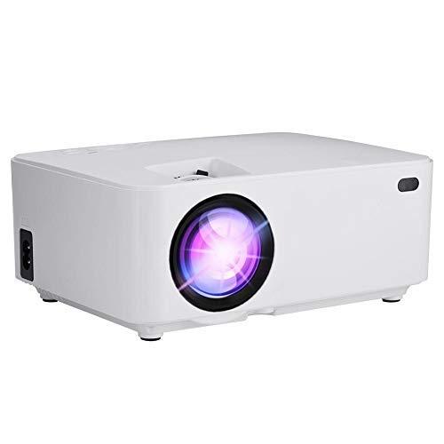 VBESTLIFE Proyector LED portátil , 1080P 32-120in 30000 horas Mini proyector de cine en casa HD compatible con tarjeta 3D HDMI / TF / Blutooth / VGA / AV / USB / SD 2800lm, blanco (UE)