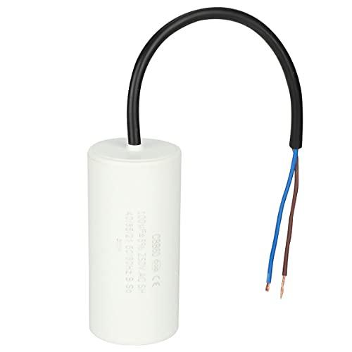 Wolfberrymetal Condensador de Funcionamiento, CBB60 Condensador de Funcionamiento 250 V CA Resistente al Calor Fugas Bajas Dispositivos a Prueba de explosiones de Baja impedancia y Baja pérdida
