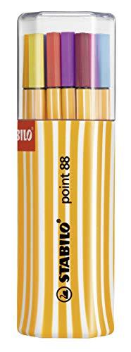 Fineliner - STABILO point 88 - 20er Twin-Pack - mit 20 verschiedenen Farben