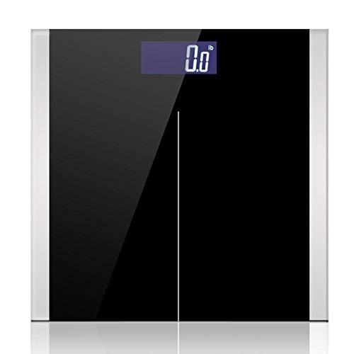 PRWJH Balances de salle de bains, équilibre de santé intelligent de corps électronique de poids numérique intelligent corps à la maison, ménage, 150 kg, noir