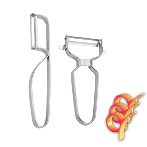 Vegetable PeelerPeelerPremium Stainless Steel Peeler KitchenwareApple PeelerPotatoe Peeler-Dishwasher SafeCooking&Kitchen Gadget2 Pcs