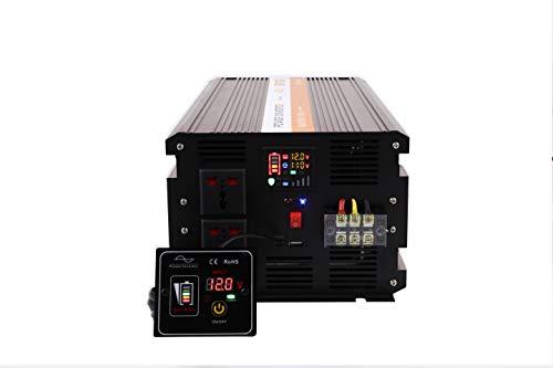 MWXNE Pure SINE Wave 4000 Watt (8000W Surge) 12V Power Inverter DC to AC Power (Cables + Remote Control Switch + ANL Fuse) - Solar, RV